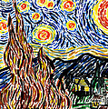 Vincent Van Goghs Starry Night by Genevieve Esson