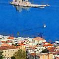 Nafplio And Bourtzi Fortress by George Atsametakis