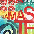 Namaste- Contemporary Abstract Art by Linda Woods