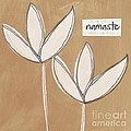 Namaste White Flowers by Linda Woods