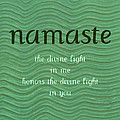 Namaste With Blue Waves by Michelle Calkins