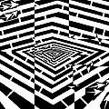 Nano Curcuits Maze  by Yonatan Frimer Maze Artist