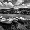 Nantlle Uchaf Boats by Adrian Evans