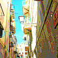 Narrow Street Cefalu Italy Digital Art by A Gurmankin
