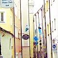 Narrow Street In Passau Germany by Elaine Weiss