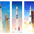 Nasa Rockets by Douglas Castleman