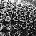 Nashville Hats Black And White by John McGraw