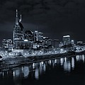 Nashville Skyline At Night by Dan Sproul