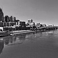 Nashville Skyline In Black And White At Day by Dan Sproul