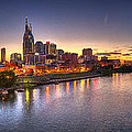 Nashville Skyline Panorama by Brett Engle