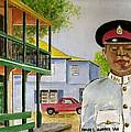 Nassau Bahamas Policeman by Frank Hunter