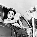Natalie Wood At A Drive-in by Underwood Archives