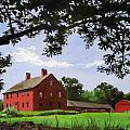 Nathan Hale Homestead Coventry Connecticut by Christine Hopkins