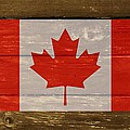 Canada National Flag On Wood by Movie Poster Prints