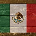Mexico National Flag On Wood by Movie Poster Prints
