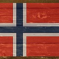 Norway National Flag On Wood by Movie Poster Prints