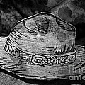 National Park Service Ranger Hat Black And White by John Stephens