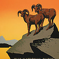 National Parks Preserve Wildlife Vintage Poster 1938 by Mountain Dreams