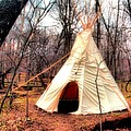 Native American Abode by Jimmy Ostgard