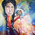 Native American And Child by Melissa Feinberg