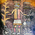 Native American Harvest Pictograph by Jo Ann Tomaselli