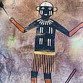 Native American Medicine Man Pictograph by Jo Ann Tomaselli