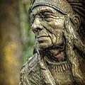 Native American Statue At Niagara Falls State Park by LeeAnn McLaneGoetz McLaneGoetzStudioLLCcom