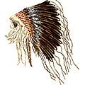 Native American War Bonnet - Plains Indians by Michael Vigliotti