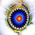 Native American White Fur Headdress by Dora Sofia Caputo Photographic Design and Fine Art
