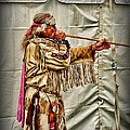 Native American With Blowgun by Paul Ward