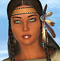 Native American Woman by Design Windmill