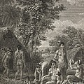 Native Caribbean Family, 18th Century by British Library