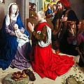 Nativity And Adoration Of The Magi by Munir Alawi