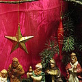 Nativity Scene In Red by Rosita Larsson