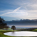 Naturally Formed Dew Pond In Countryside Landscape With Moody Sk by Matthew Gibson