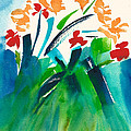 Natures Bouquet Abstract by Frank Bright