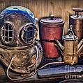 Nautical - Antique Dive Helmet by Paul Ward