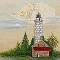 Nautical Chart Cana Island Lighthouse by Bethany Kirwen