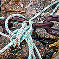 Nautical Lines And Rusty Chains by Susie Peek