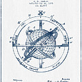 Nautical Observation Apparatus Patent From 1895  -  Blue Ink by Aged Pixel