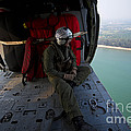 Naval Aircrewman Surveys The Gulf by Stocktrek Images