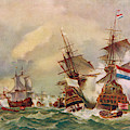 Naval Battle Off Texel A French Fleet by Mary Evans Picture Library