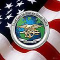 Naval Special Warfare Group Three - N S W G-3 - Over U. S. Flag by Serge Averbukh