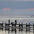 Navarre Beach Sunset Pier 12 by Michelle Powell