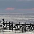 Navarre Beach Sunset Pier 14 by Michelle Powell
