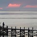 Navarre Beach Sunset Pier 20 by Michelle Powell