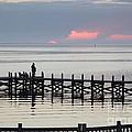Navarre Beach Sunset Pier 21 by Michelle Powell