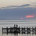 Navarre Beach Sunset Pier 22 by Michelle Powell