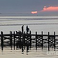 Navarre Beach Sunset Pier 25 by Michelle Powell