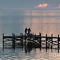 Navarre Beach Sunset Pier 37 by Michelle Powell
